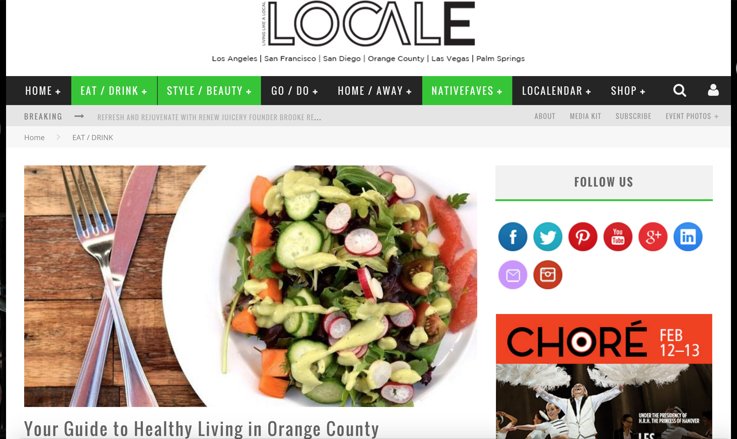 Locale Magazine Article highlights Cal Shabu's healthy interactive dining process