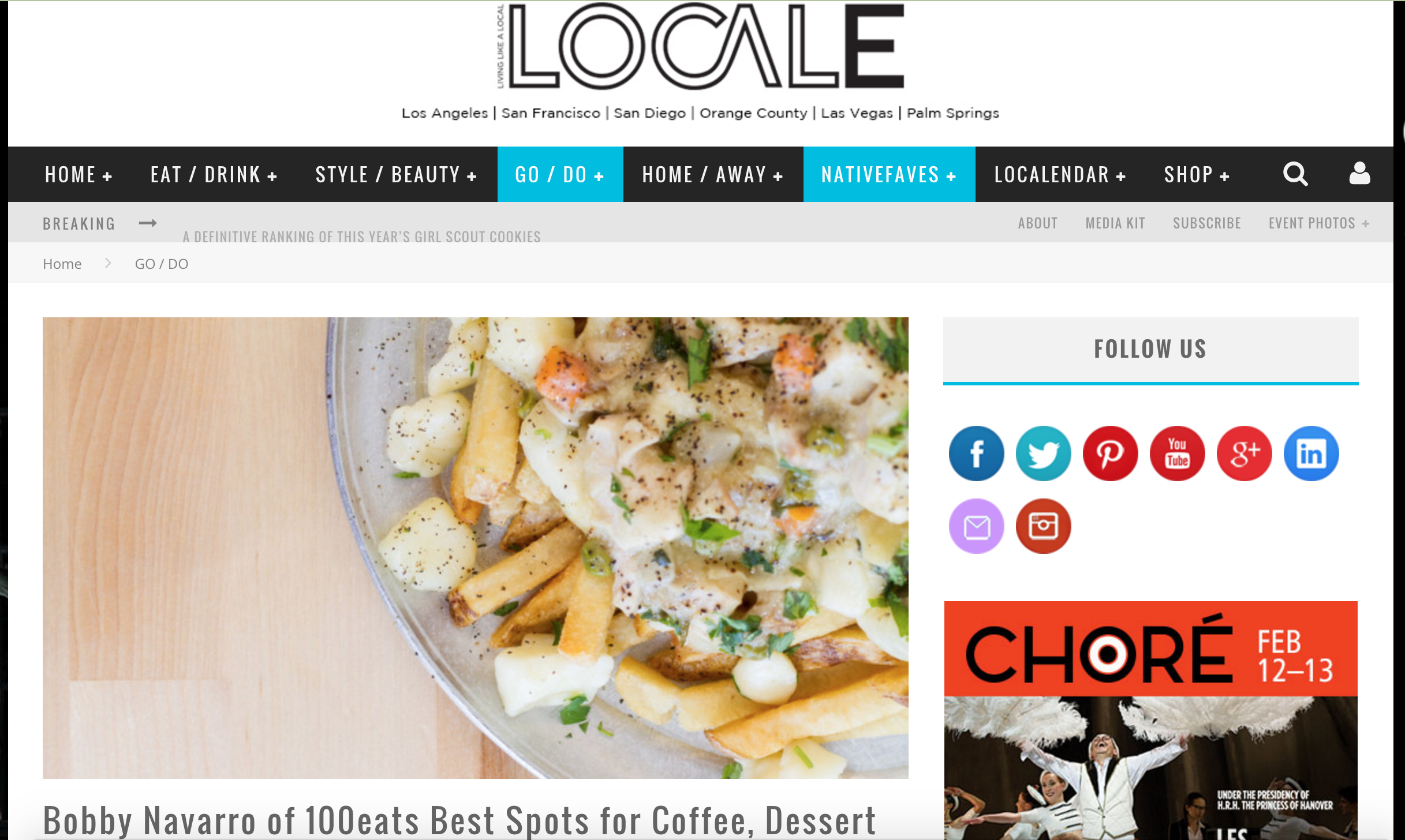 Locale Magazine Article highlights Bobby Navarro's typical Sunday night at Cal Shabu Costa Mesa