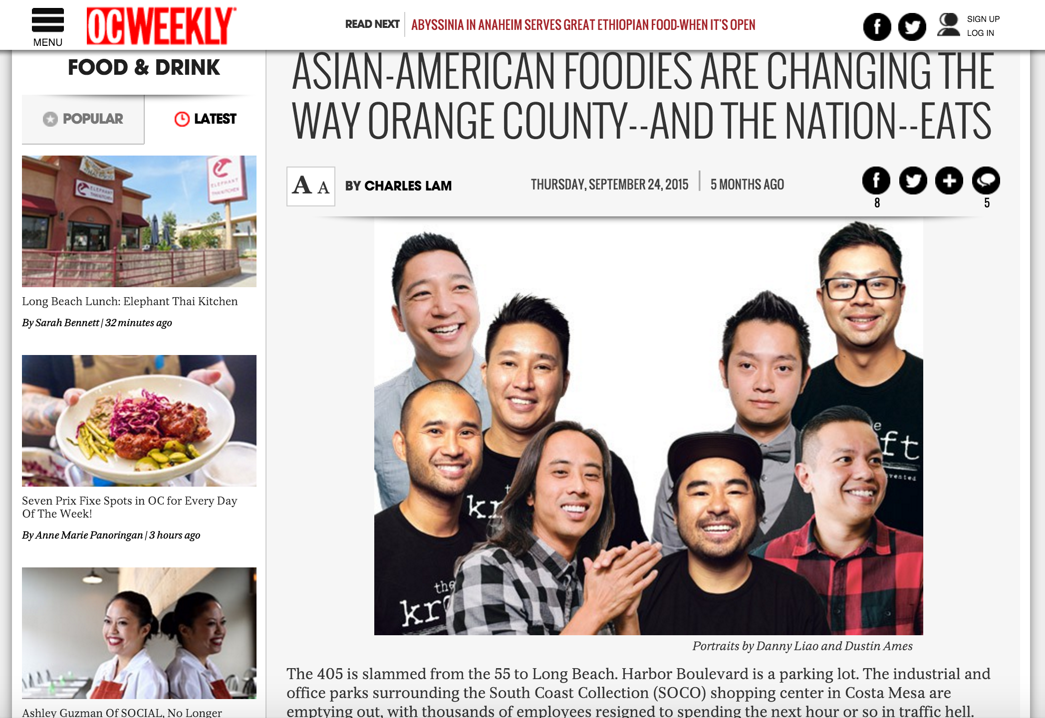 OC Weekly Article highlights OC Restauranteur Leonard Chan, and his first Cal Shabu concepts