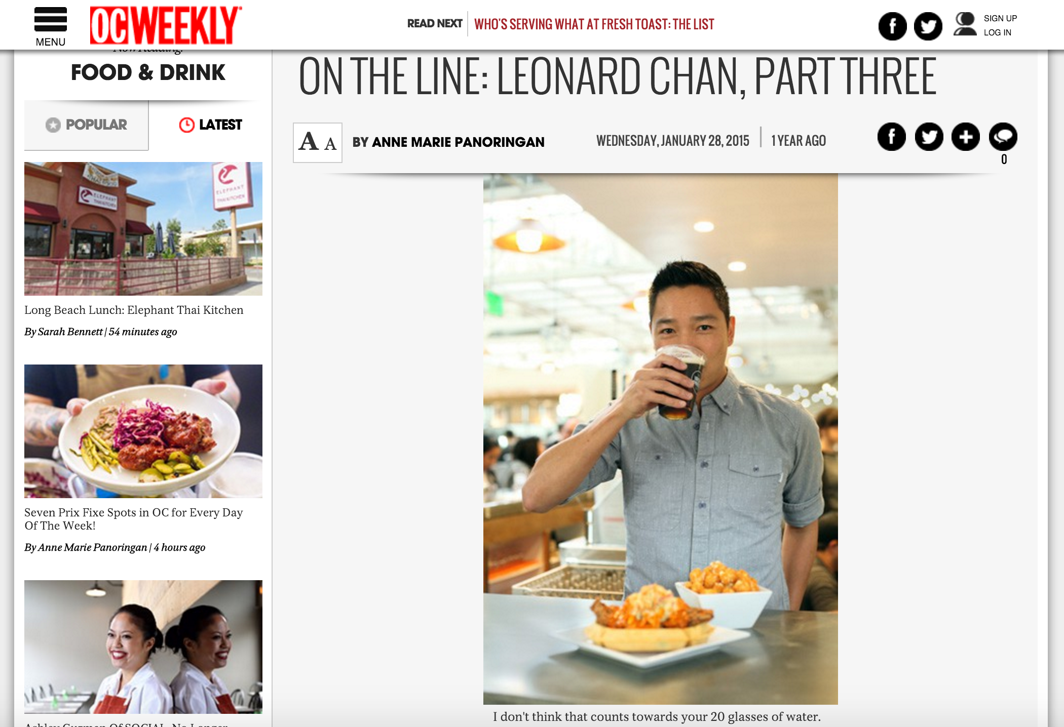 OC Weekly 3-part Interview Article highlights owner Chan and his beginnings at Cal Shabu