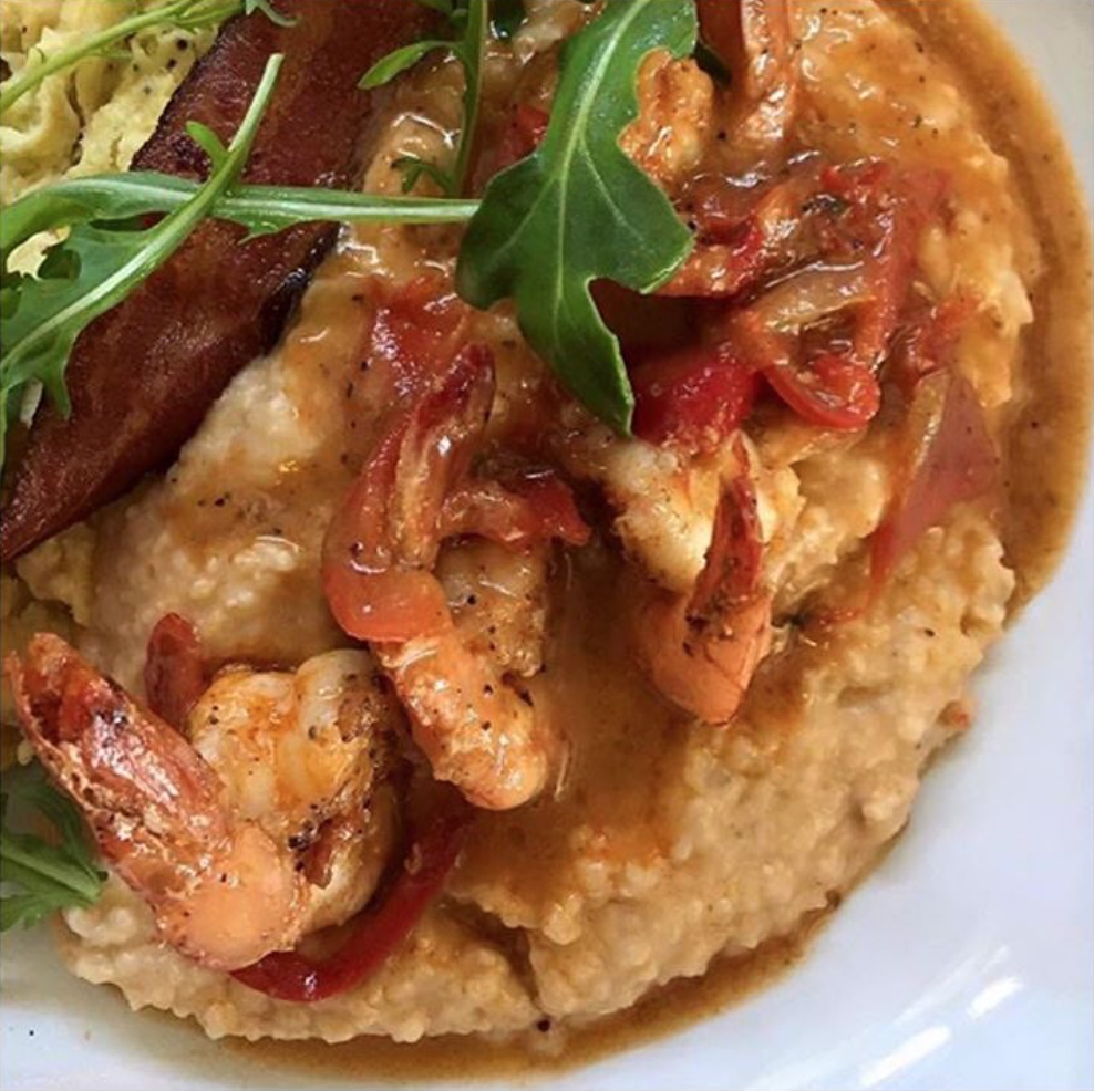 Shrimp and Grits. Photo courtesy of Post & Beam's Instagram page.