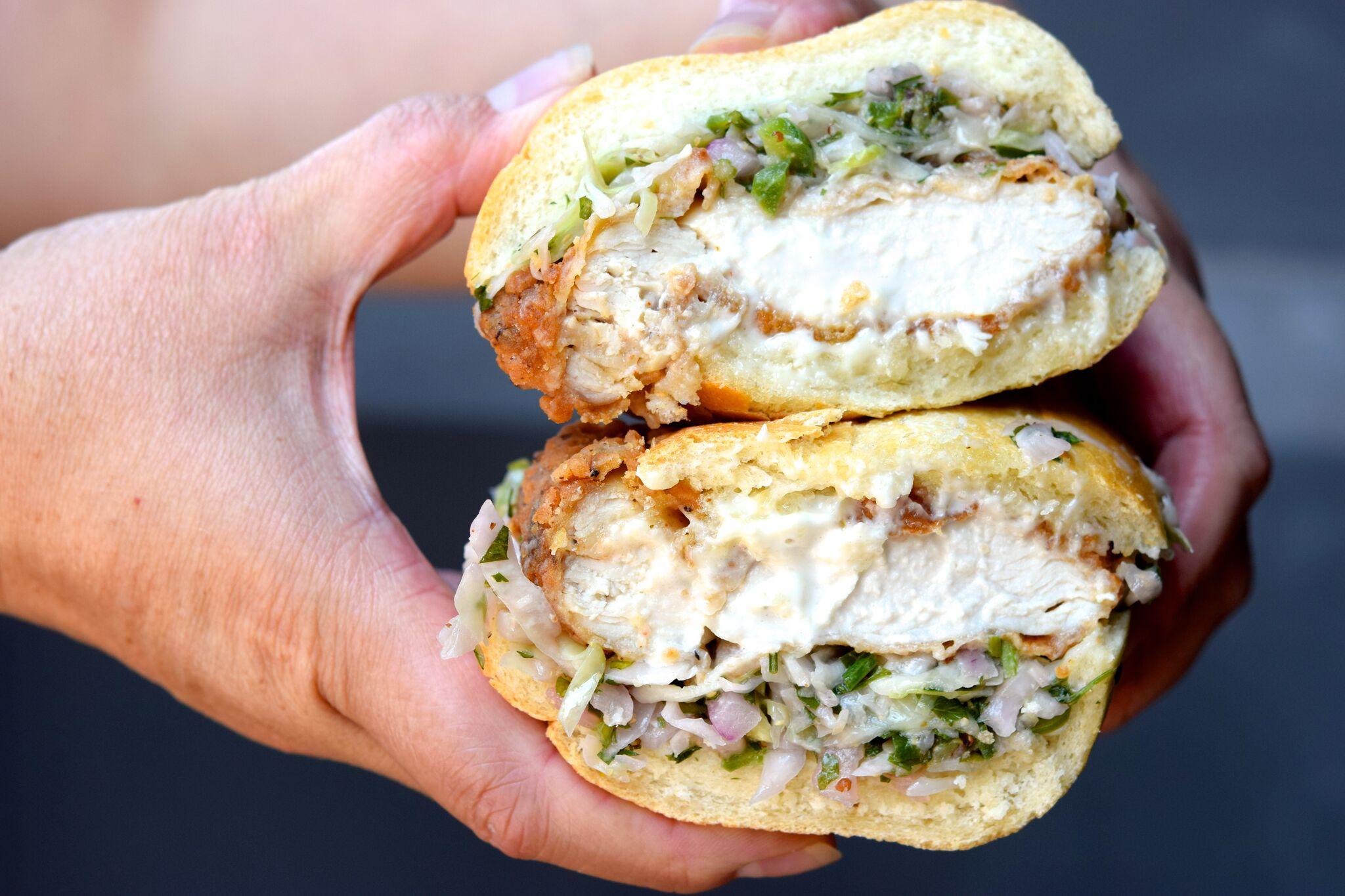 Kroft Fried Chicken sandwich | photo courtesy of 100eats
