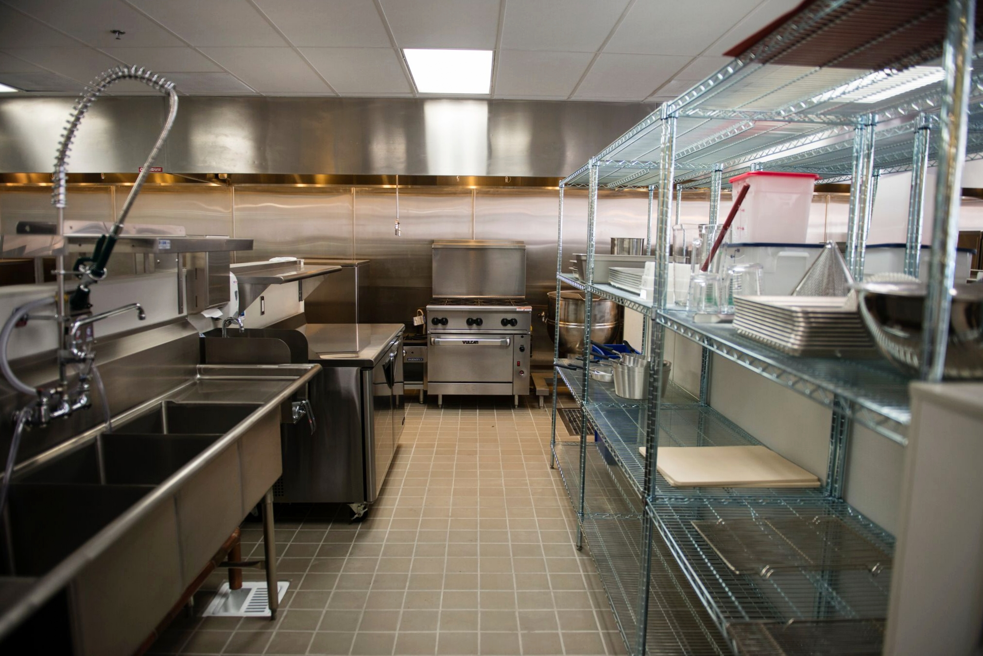 Vacant East End Incubator Kitchens space | photo courtesy of 100eats