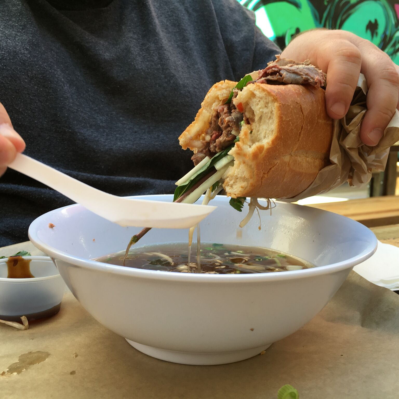Sit Low's Pho French Dip