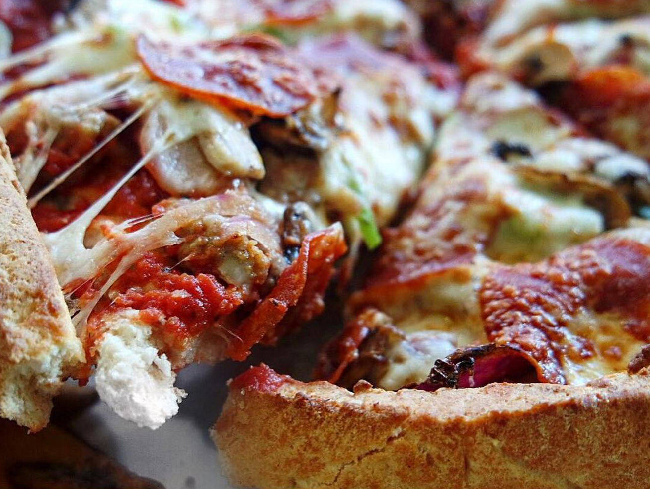 Fresh Brothers' Da Works, Deep Dish | photo courtesy of @missfoodieproblems on instagram