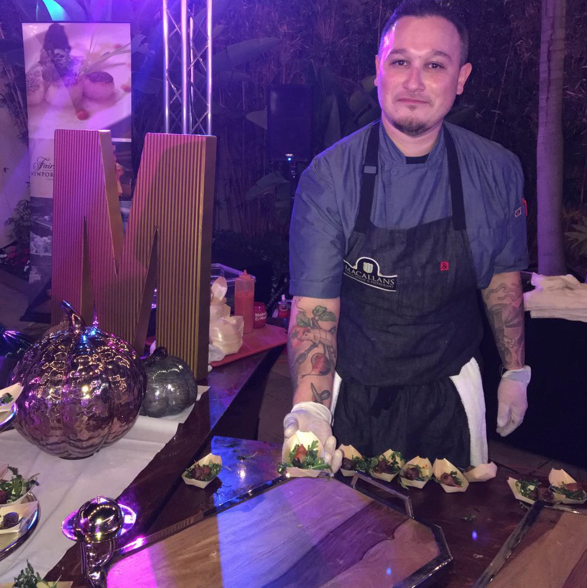 Chef Roman Jimenez | Photo courtesy of @MacallansPub via Instagram