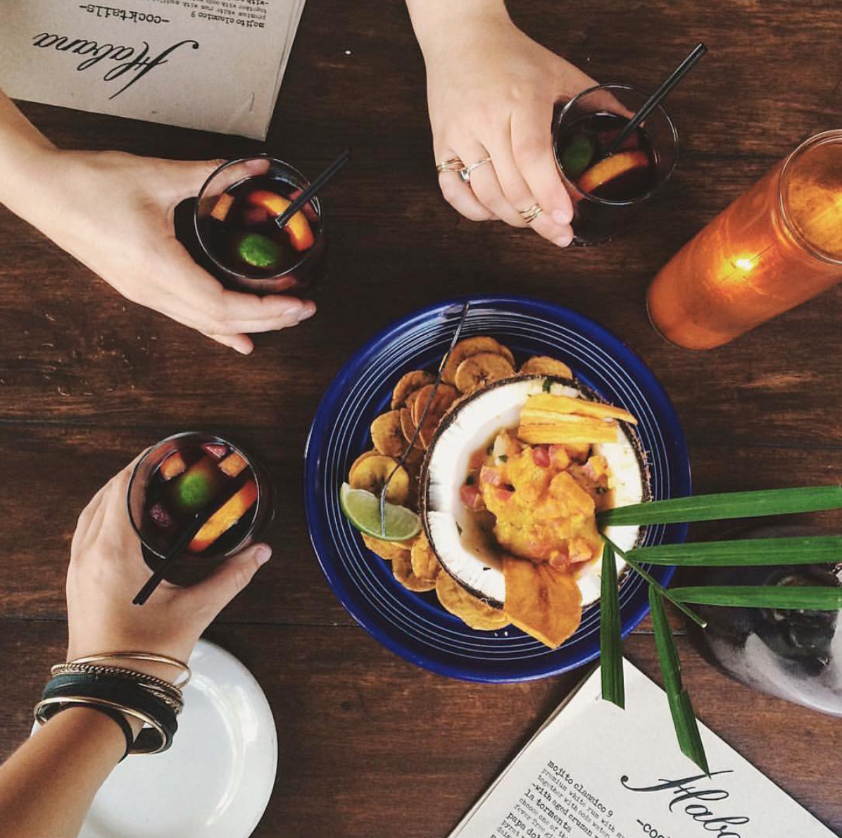 Habana's house sangria is the perfect pairing for your next late night visit | Photo courtesy of Taylor Loren via Instagram