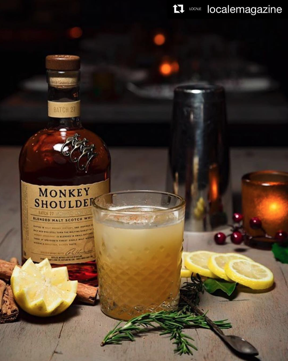 Social's signature cocktail, Monkey Business, only $10 during Social Hour | Photo courtesy of Social via Instagram