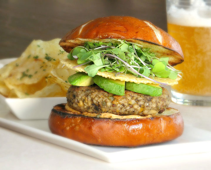 Scratch-made Veggie Burger | photo courtesy of butterleaf