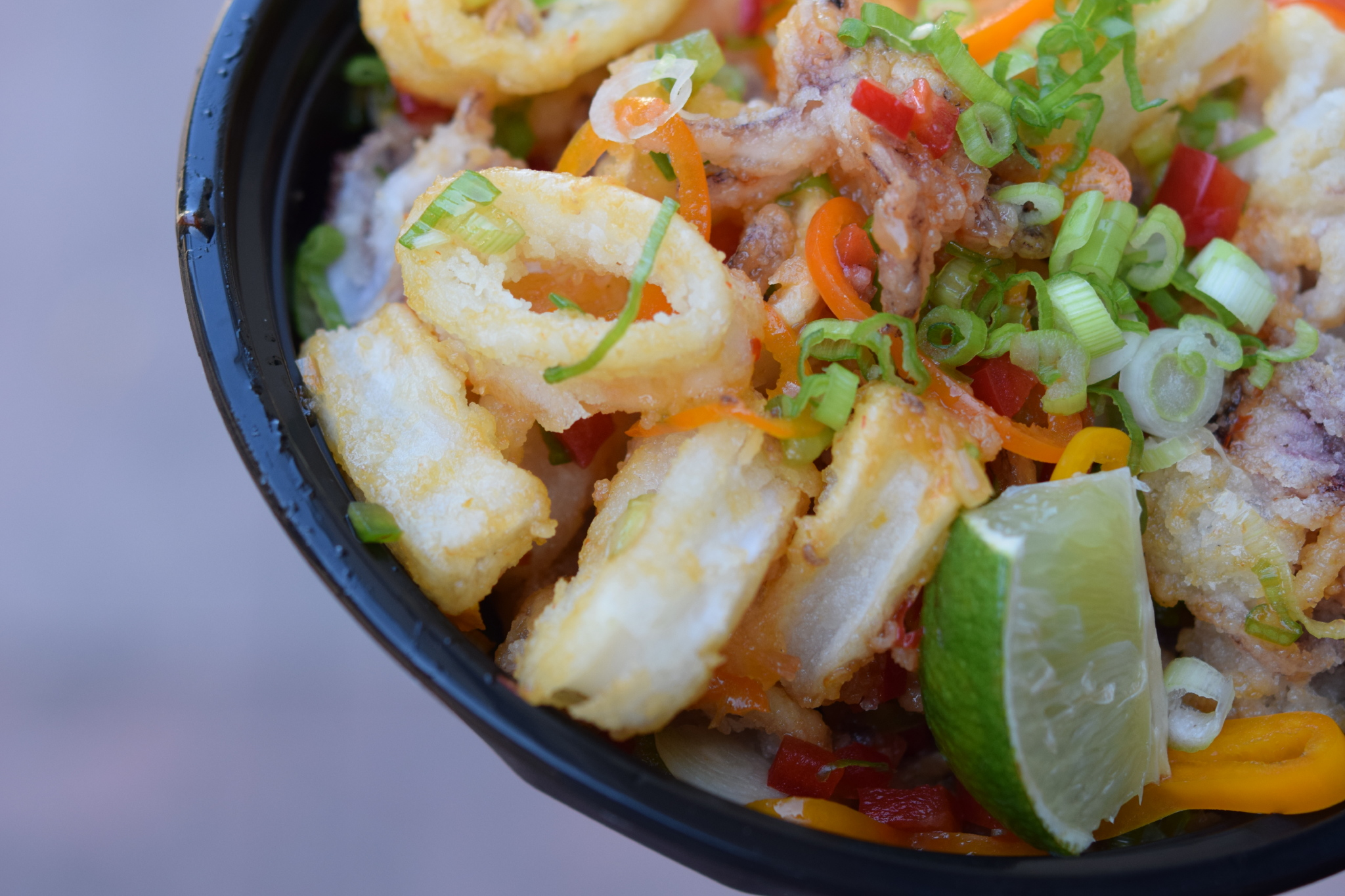 Fresh Calamari Bowl | photo courtesy of 100eats