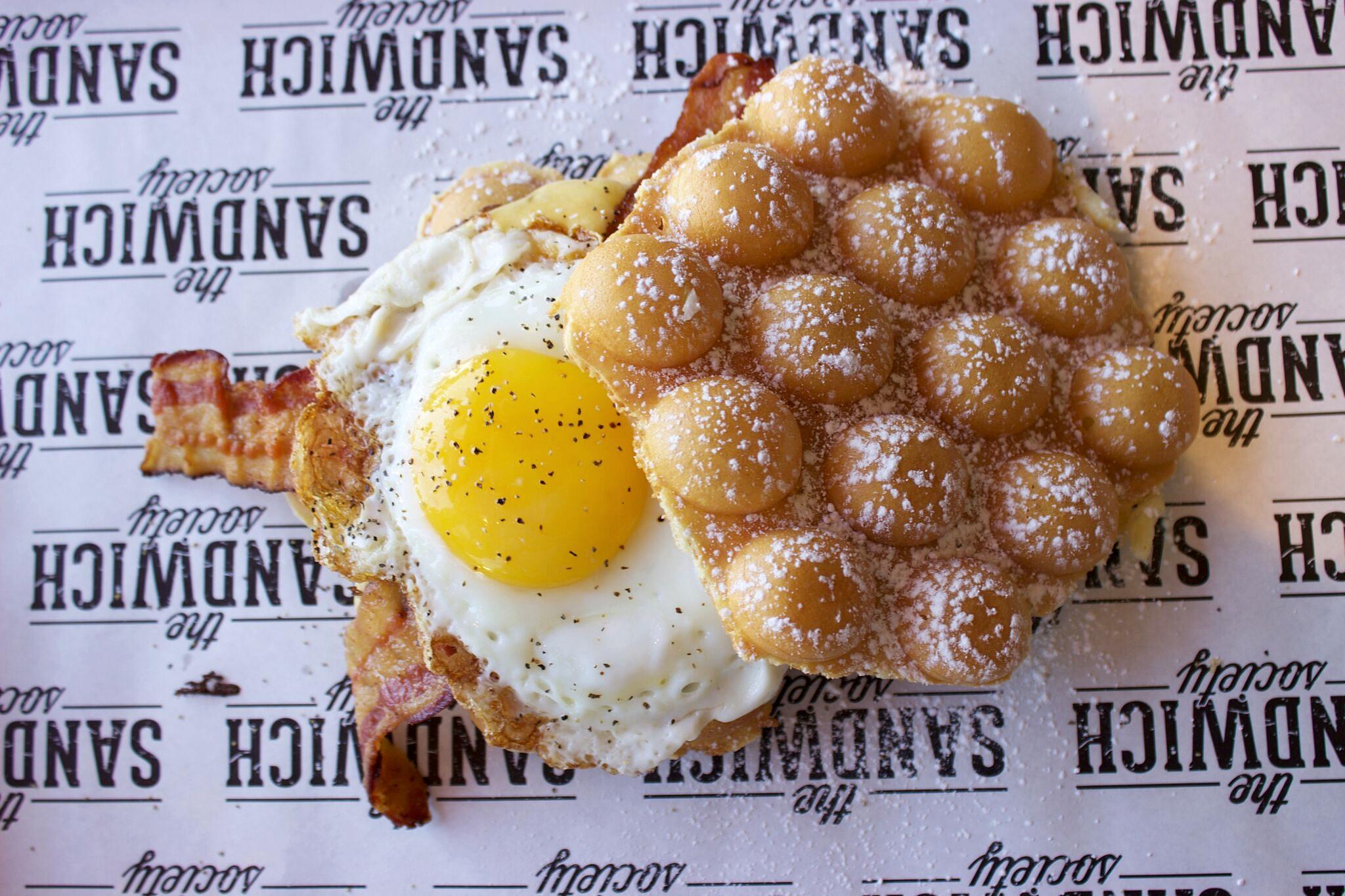 The Bubble Waffle Sandwich | photo courtesy of 100eats