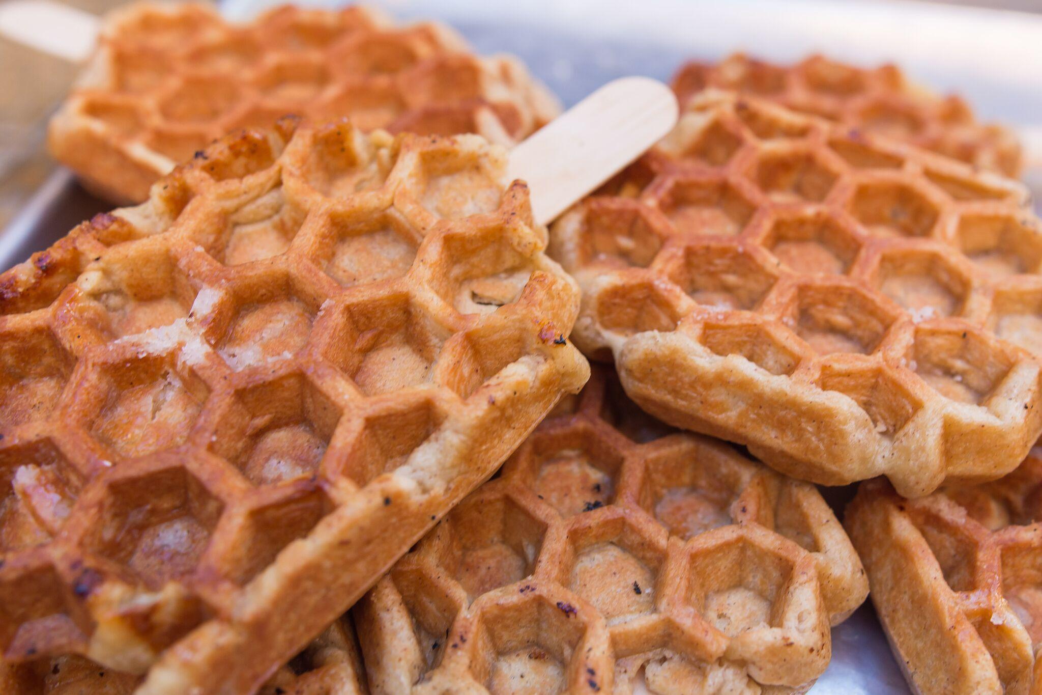 Fresh Belgium Liege waffles | photo courtesy of Sweet COMBforts