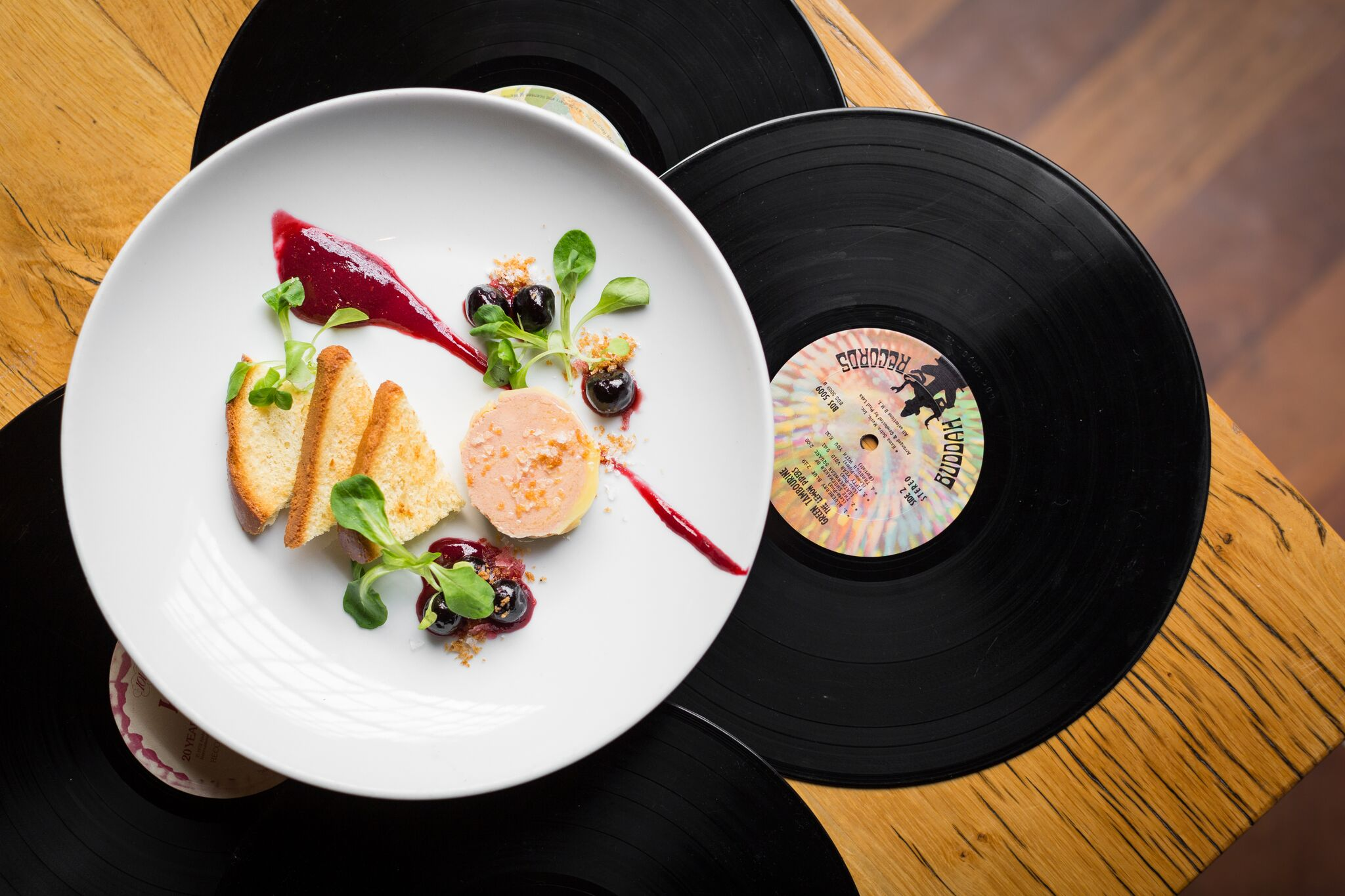 Foie Tourchon, the second course of the Frank Sinatra Chef's Table Menu