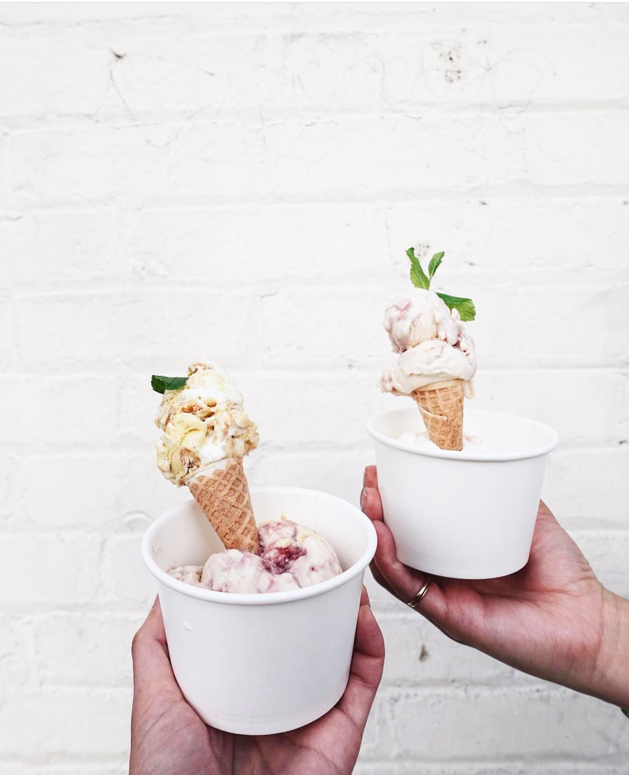 Milk Man's mini ice cream cone offerings | photo courtesy of @alliosn on instagram