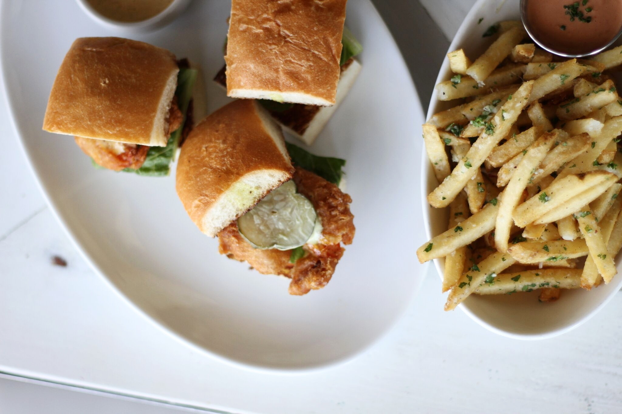 Shrimp Sliders n Fries at Shuck ...in case Oysters aren't your thing