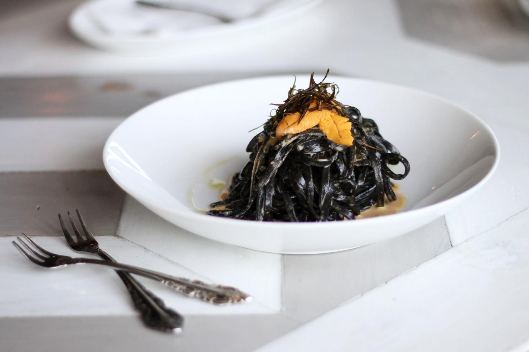Squid Ink Uni Pasta