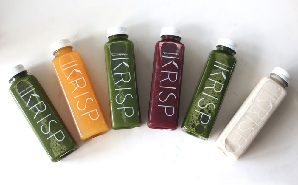 KRISP Fresh Living's popular Juice DTOX | photo courtesy of KRISP Fresh Living