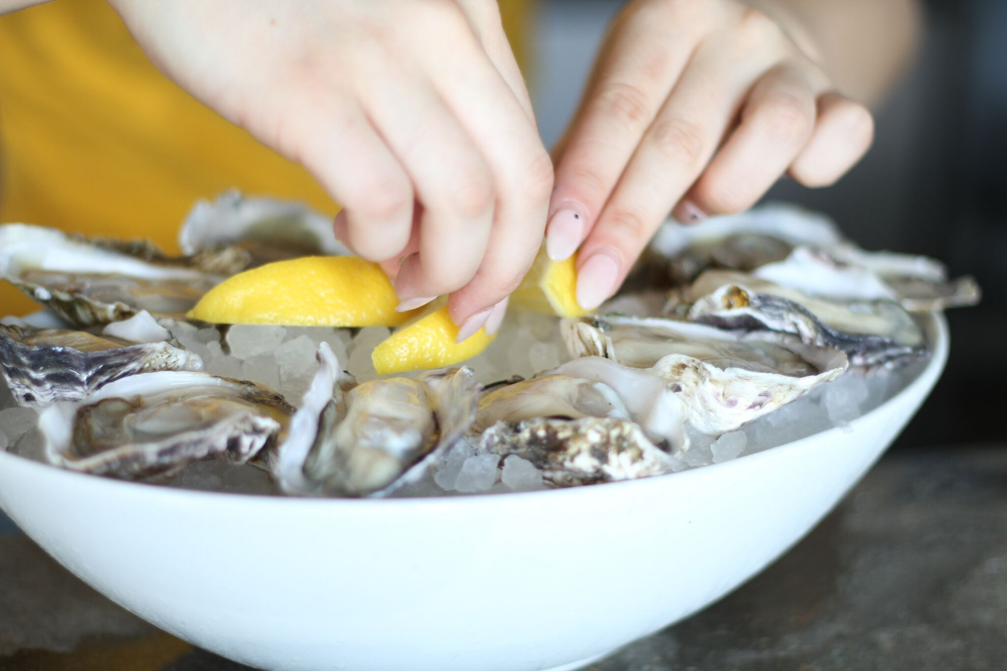 Oysters are packed with healthy minerals, served up daily at Shuck Oyster Bar in Costa Mesa