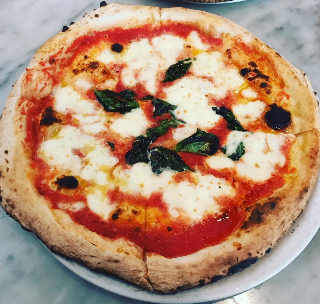 Naples Style pizza in Fullerton ...YUM | photo courtesy of @spiderphysicist on instagram
