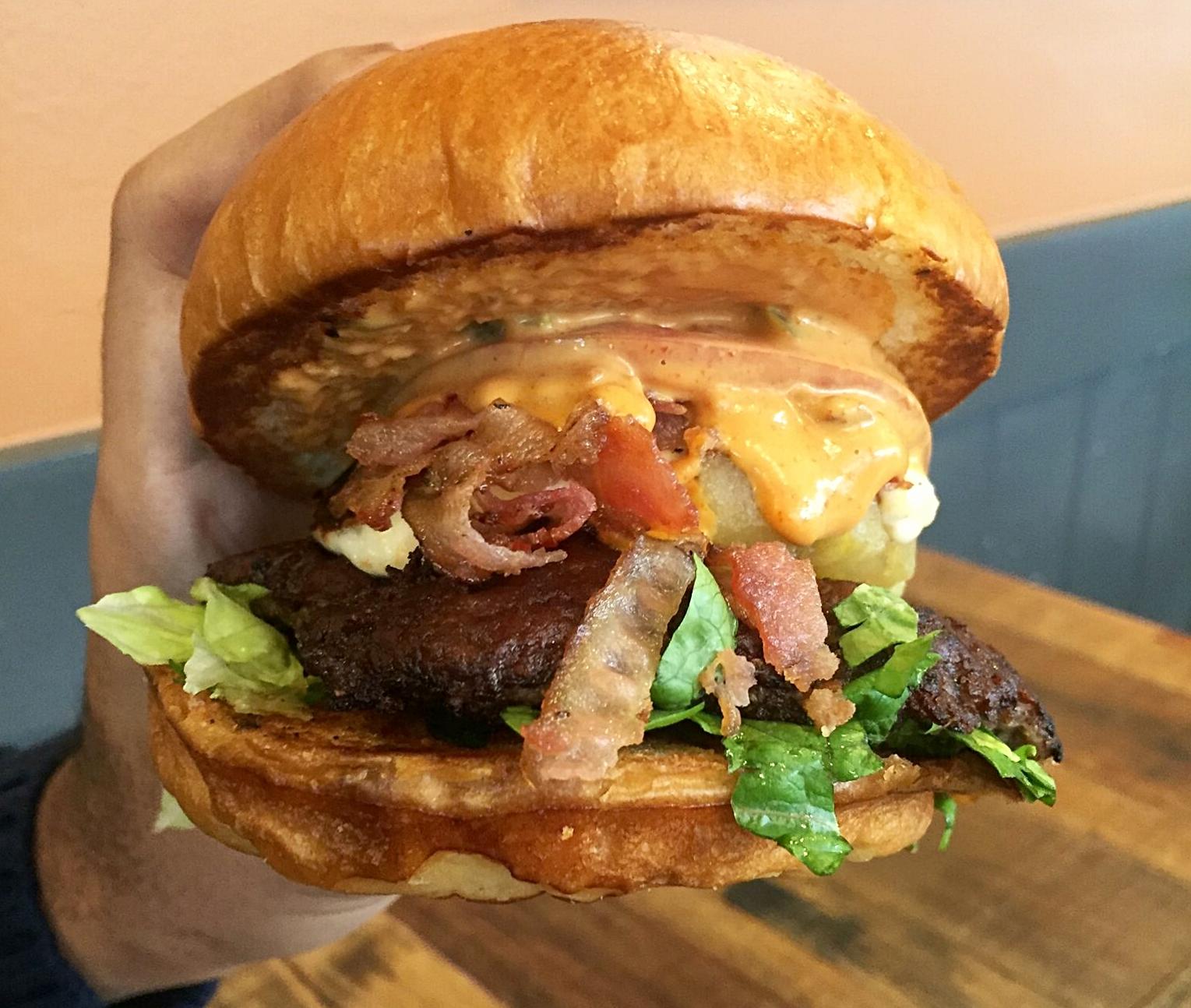 CIVIC's Zamora Burger | photo courtesy of 100eats