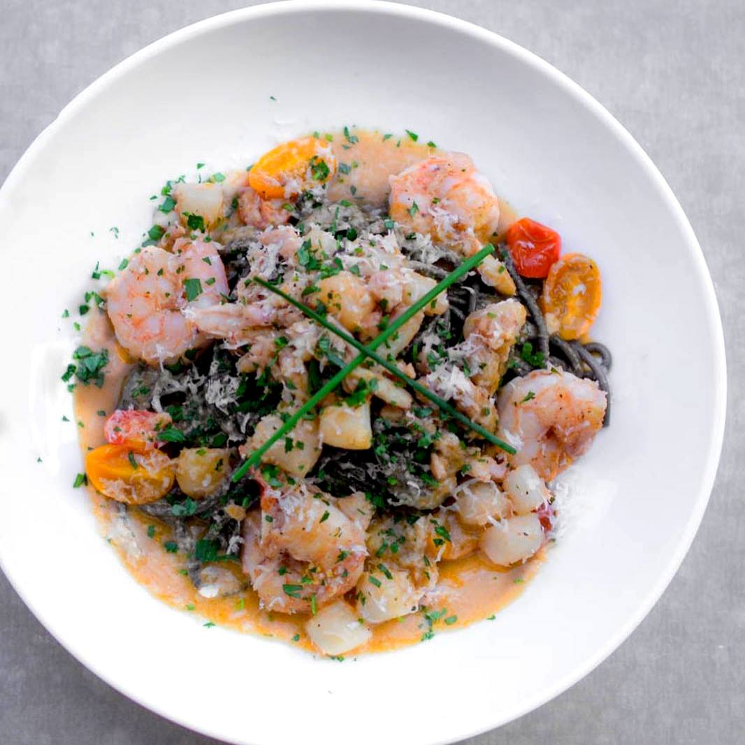 There is no shortage of delicious seafood here in SoCal, so why not pair it with tender tonnarelli noodles at The Recess Room in Fountain Valley