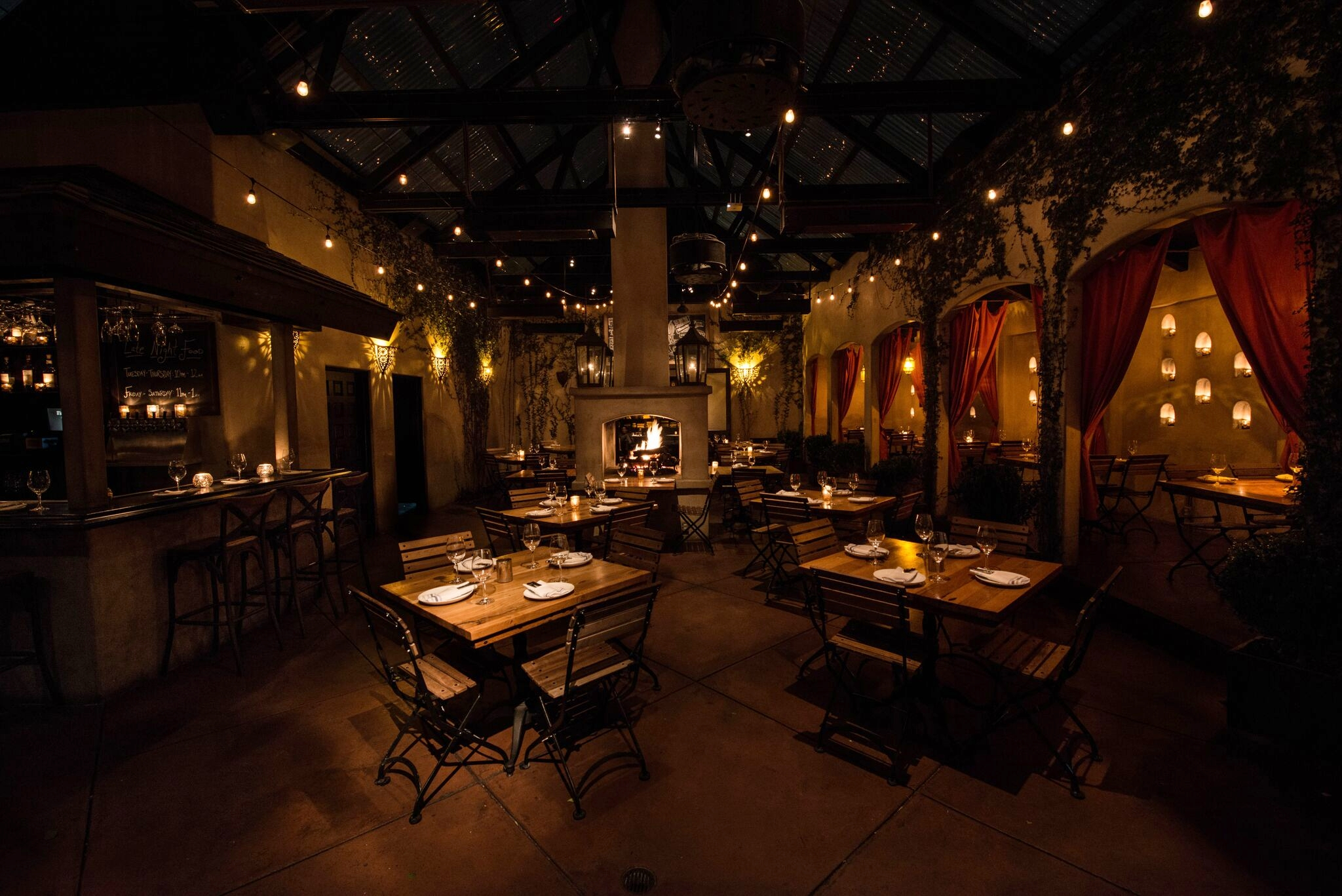 Experience the modern cuisine and romantic ambiance at Firefly during Winter DineLA in January