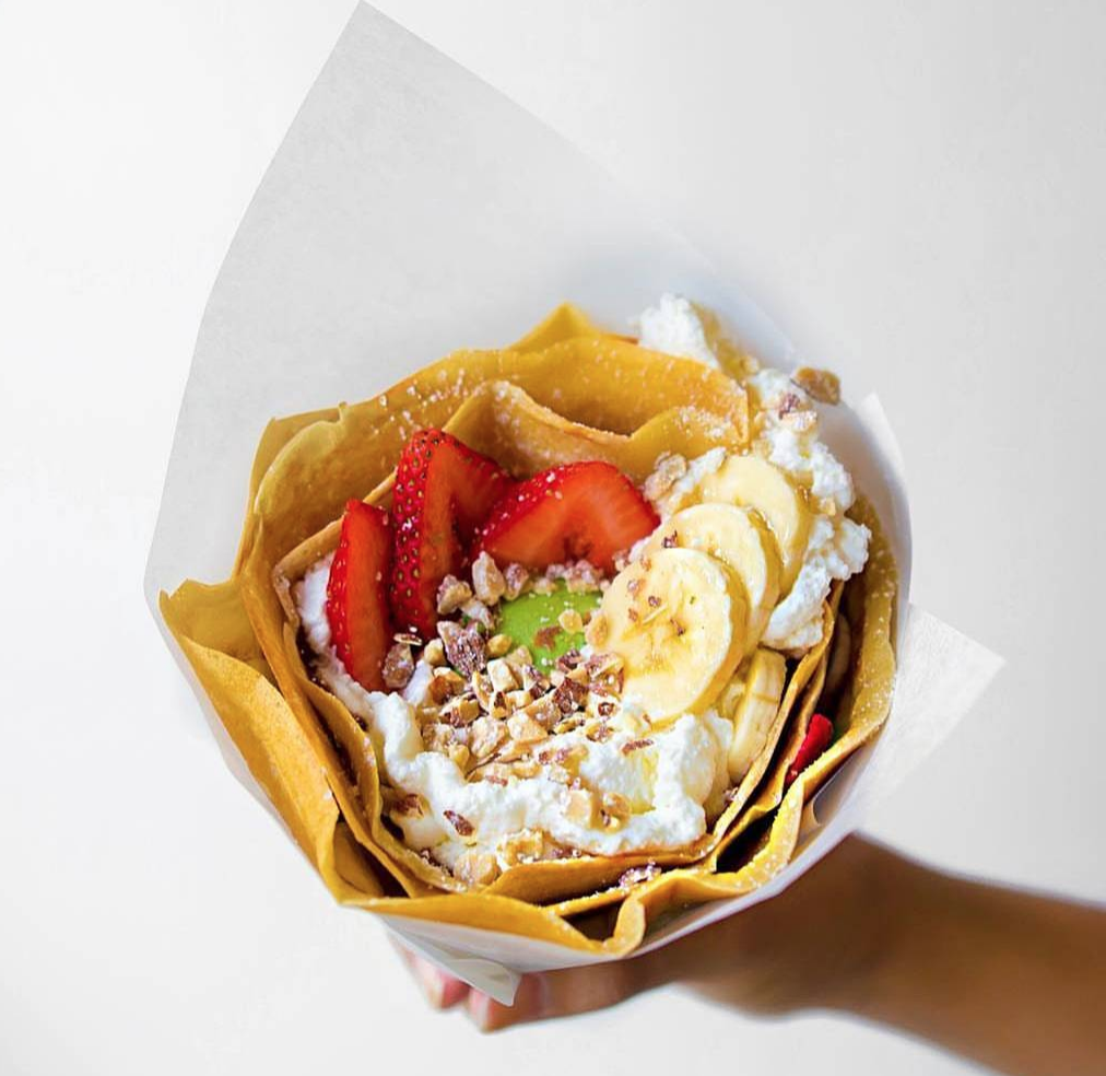 The perfect handheld pick-me-up thanks to Crêpe Coop at the Anaheim Packing District | photo courtesy of Crêpe Coop on instagram