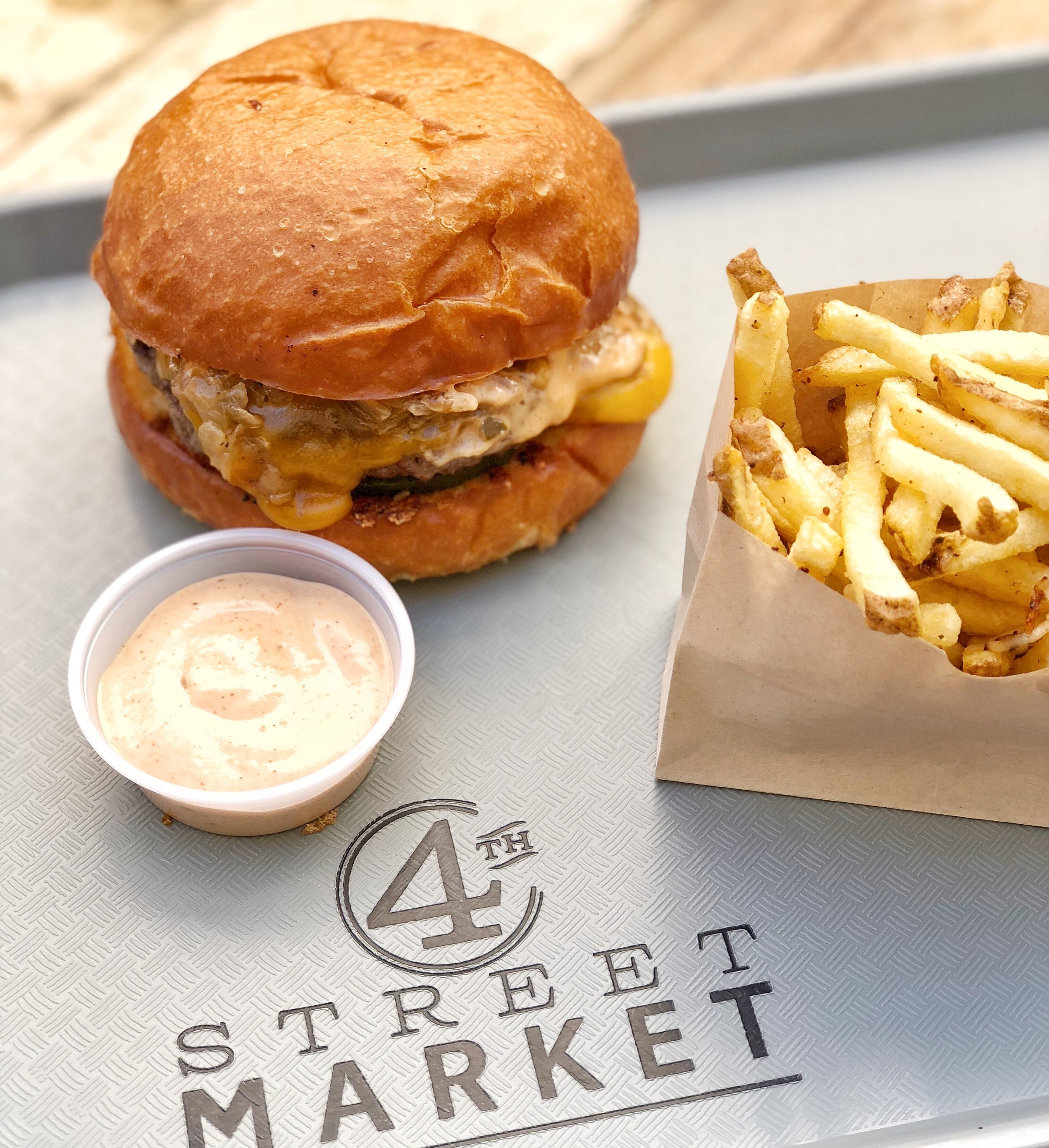 Burger and Fresh Cut Fries from GRAZE at 4th St Market | photo courtesy of GRAZE