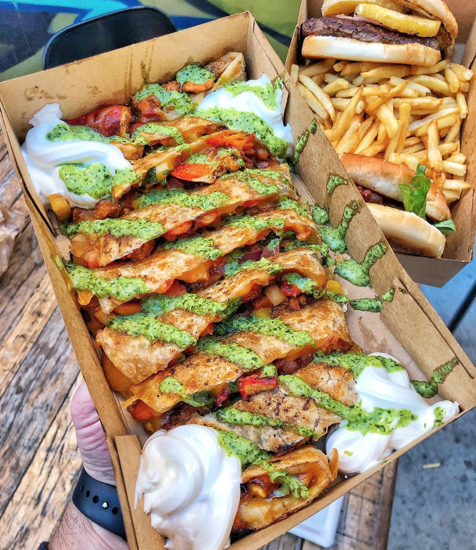 Don't skimp on the green sauce | photo courtesy of @foodieoc on instagram