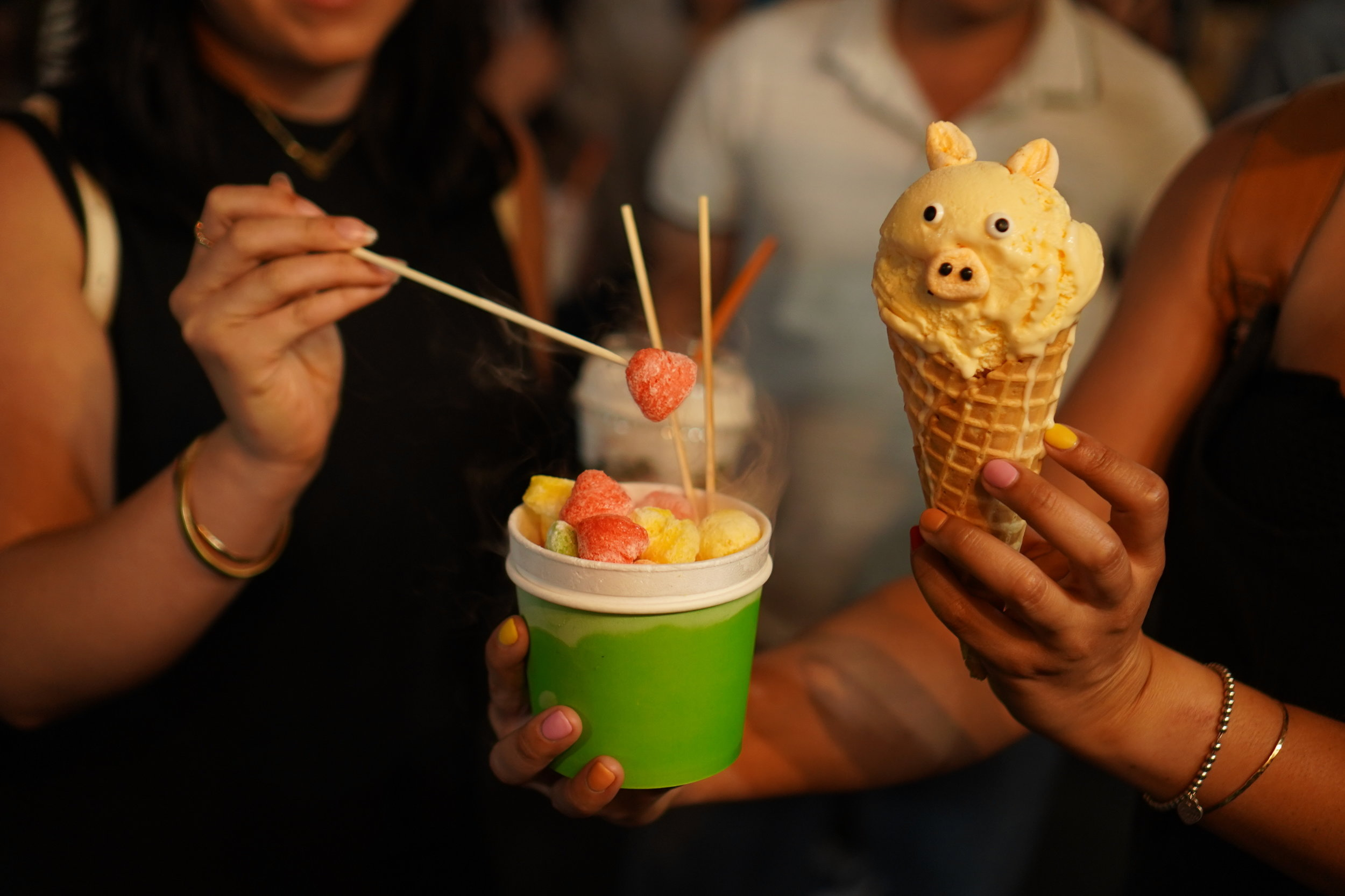 Animal Ice Cream and other fun desserts are perfect to share with friends at Little Saigon Market | photo courtesy of 100inc Agency