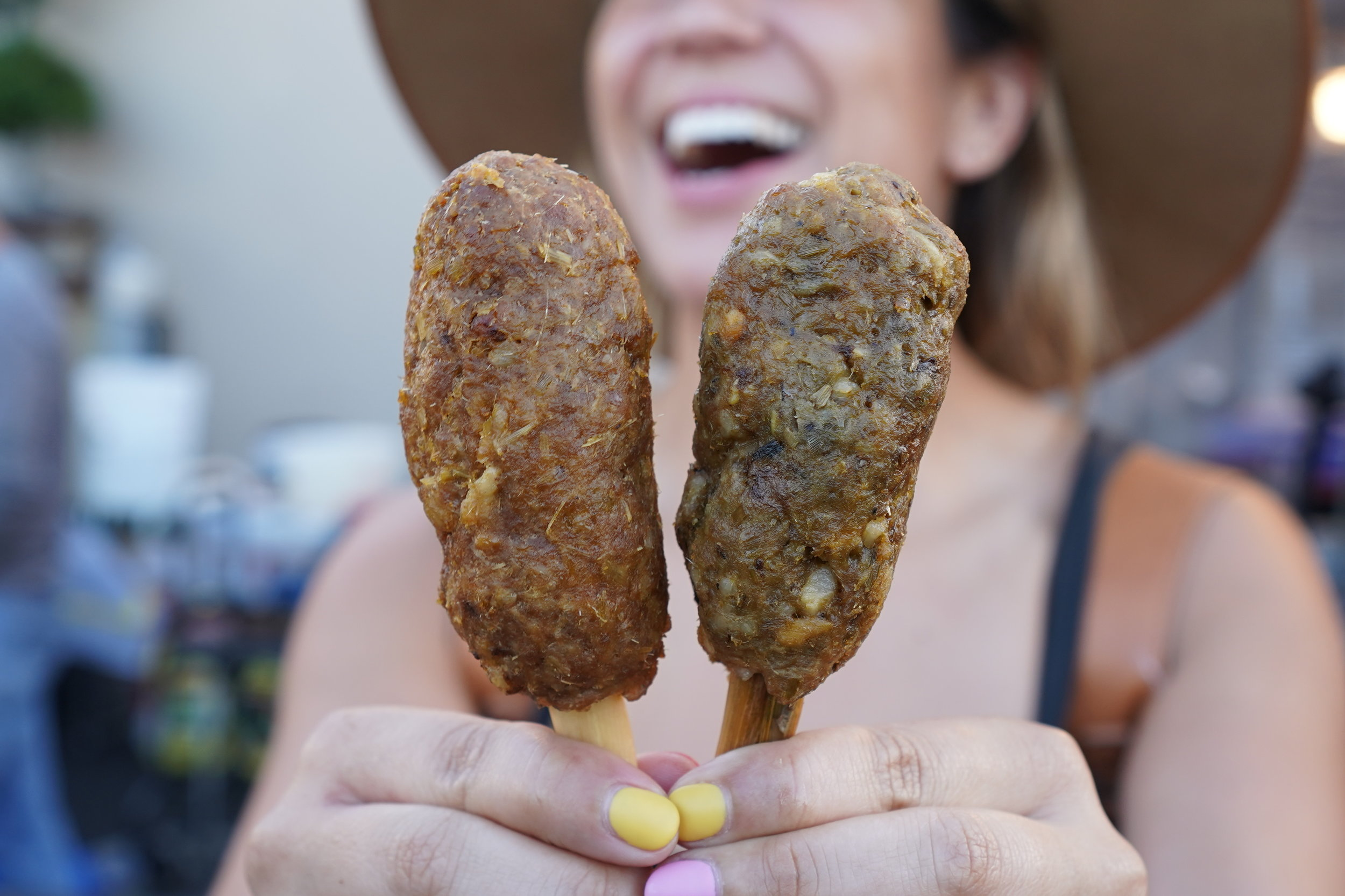 Lemongrass Grilled Sausage… bet ya can't have just one! | photo courtesy of 100inc Agency