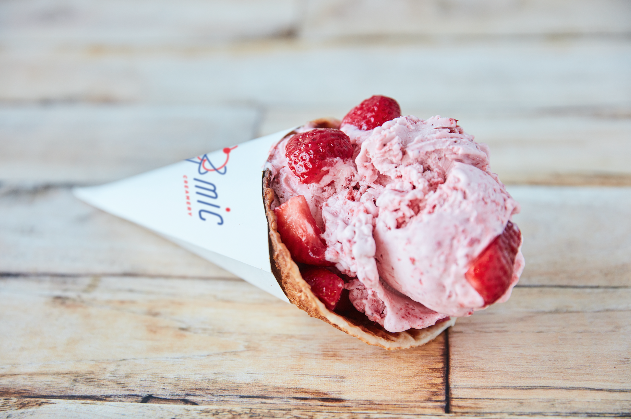 Atomic Creamery's ice cream is made fresh with all organic ingredients | photo courtesy of Atomic Creamery
