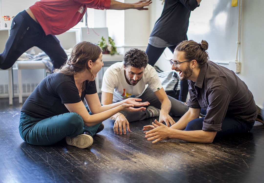 Graduate students learning through serious play