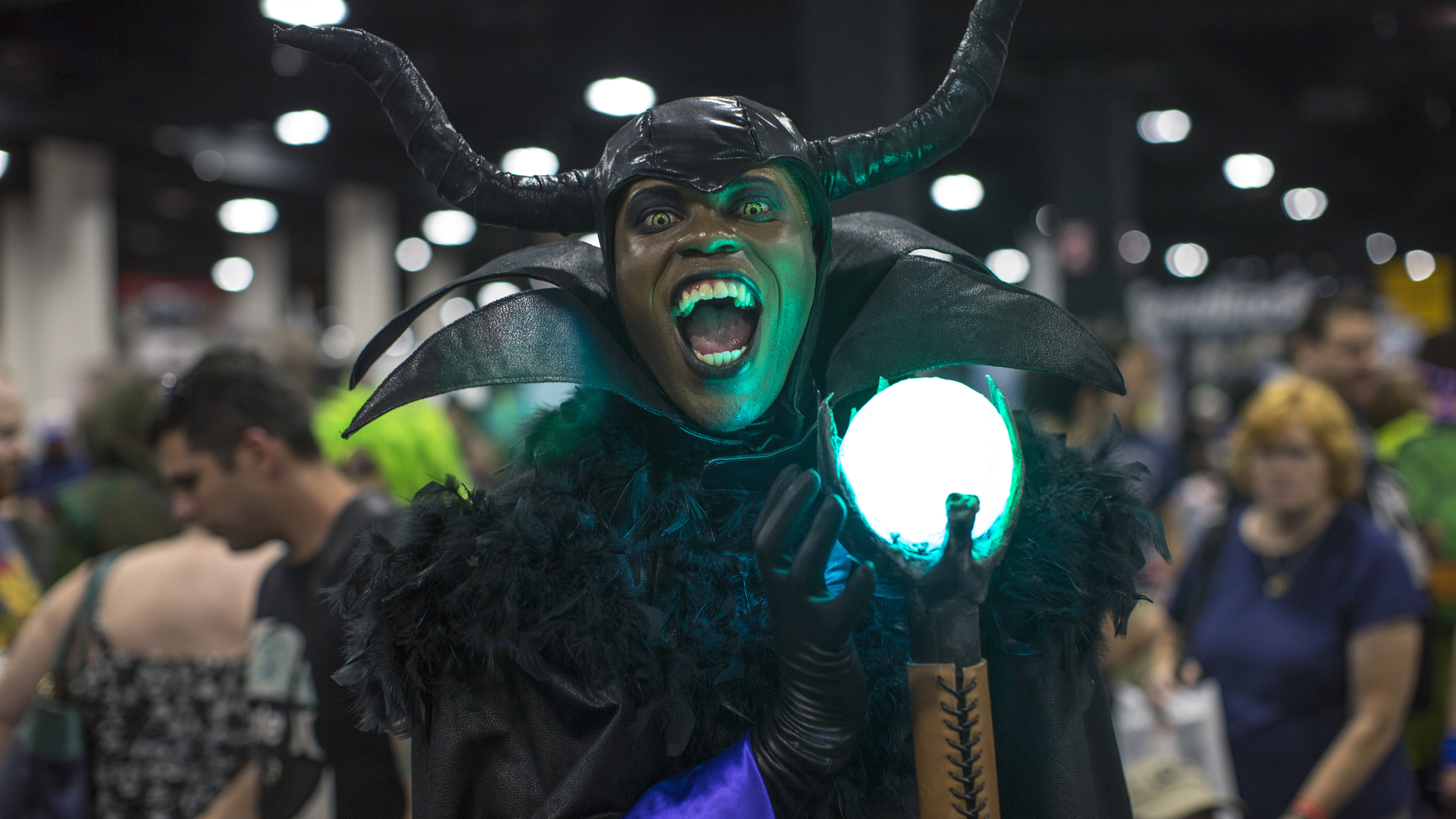 Cosplayer Brandon the Shapeshifter brought out his best Maleficent at the Boston ComicCon