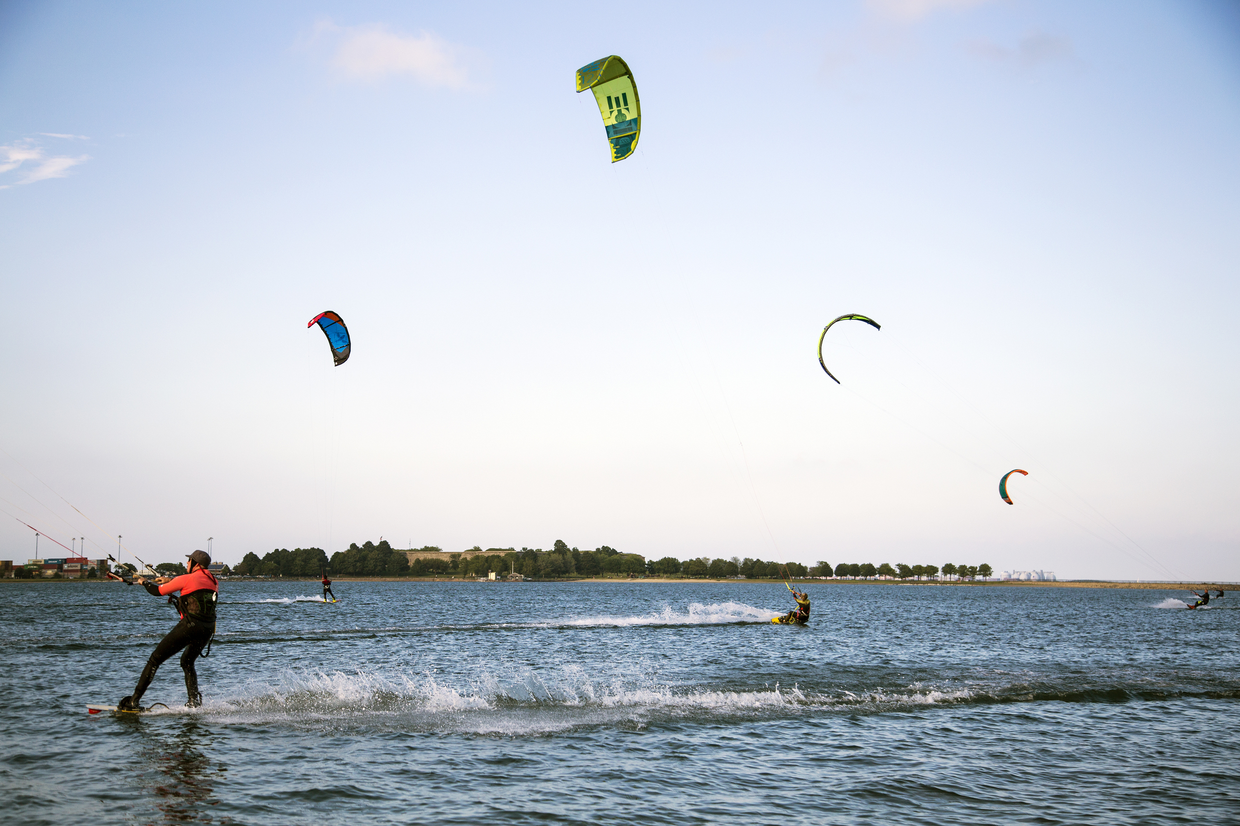 Windsurfing at Castle Island