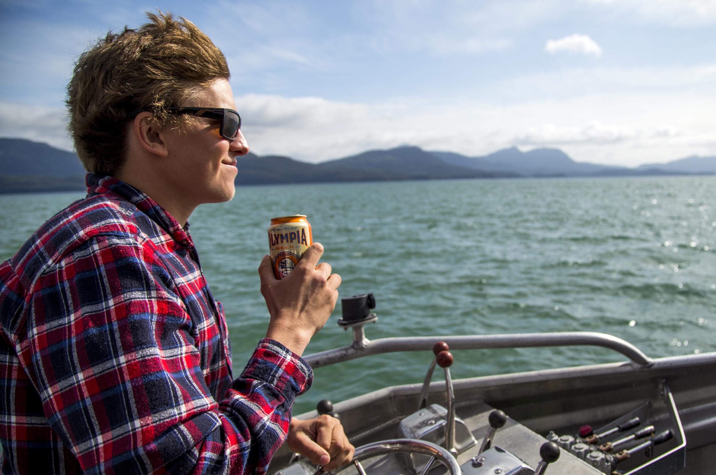 Unintentional beer commercials in Alaska waters