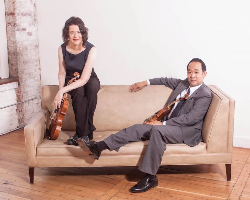 With Melia Watras, viola/Photo by Rosemary Wagner