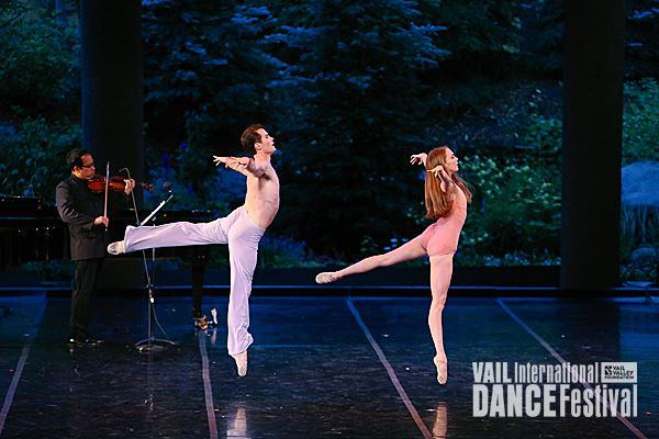With dancers Seth Orza and Kylie Kitchens at the Vail International Dance Festival