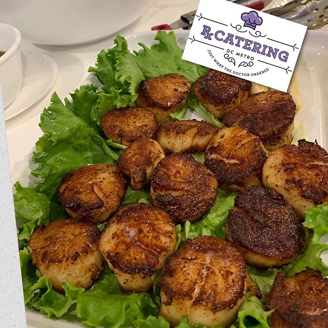 It's good to have an awesome sister-in-law who shares her recipes & ideas with Rx Catering... Pan Seared Scallops with a lemon zest! Great option for any event - We cook with 💜! 703-535-6955  #rxcateringdc #scallops #pansearedscallops #seafood #dcfoodporn #dcfoodie #vafoodie #whycook #catering #cateringlife #letuscookforyou #yummymummy #delicious #smallbusiness #smallbiz #blackownedbusiness #womanownedbusiness #entrepreneur #cateringservice
