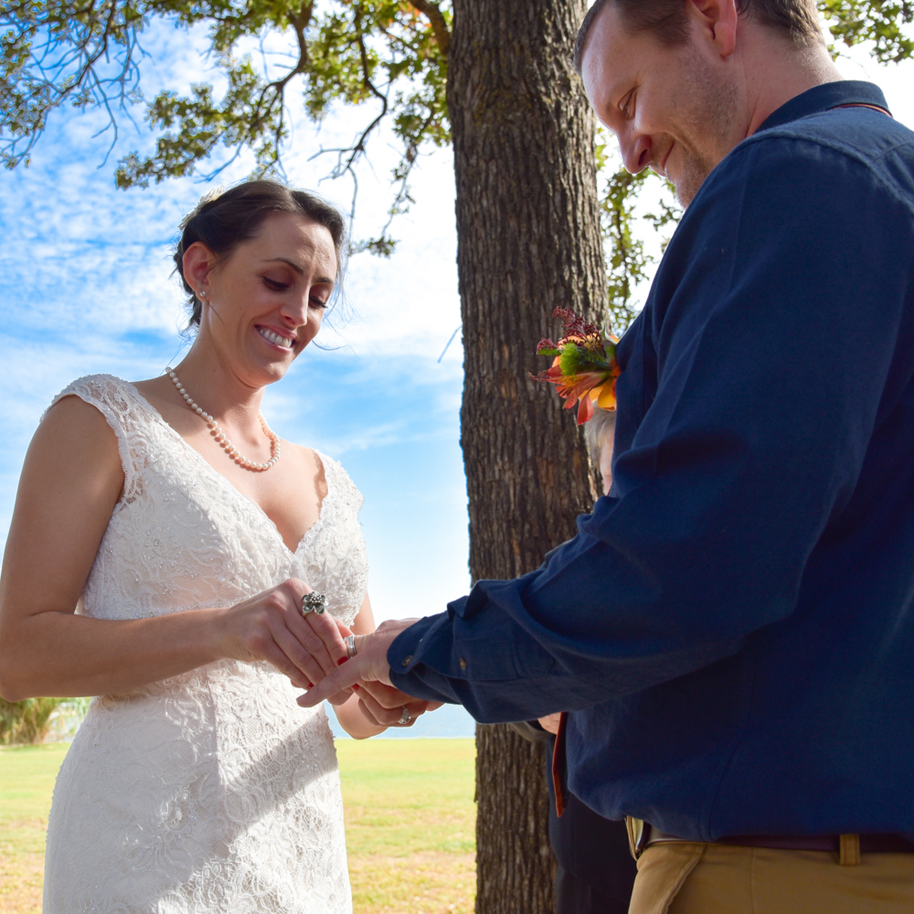 Wedding Ceremony putting ring on