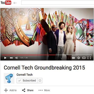 Cornell Tech NYC Groundbreaking