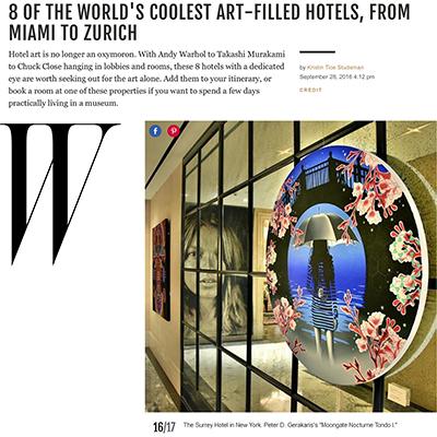 W Magazine Feature - Surrey Hotel