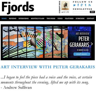 Peter D. Gerakaris in Fjords Review