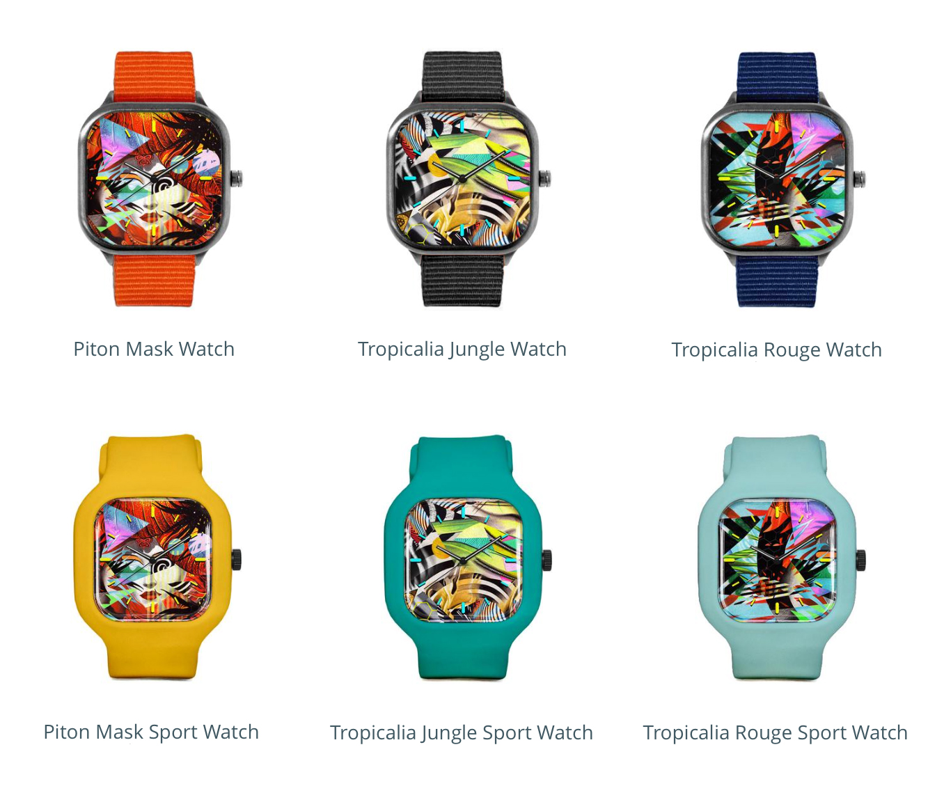 """Interactive design: Mix & match any design w/ up to 16 interchangeable strap colors. All custom designs are available in either a lightweight water-resistant """"Sport"""" model, or stainless steel """"Leisure"""" model. These watches are proudly hand-assembled in San Francisco.  View full collection"""