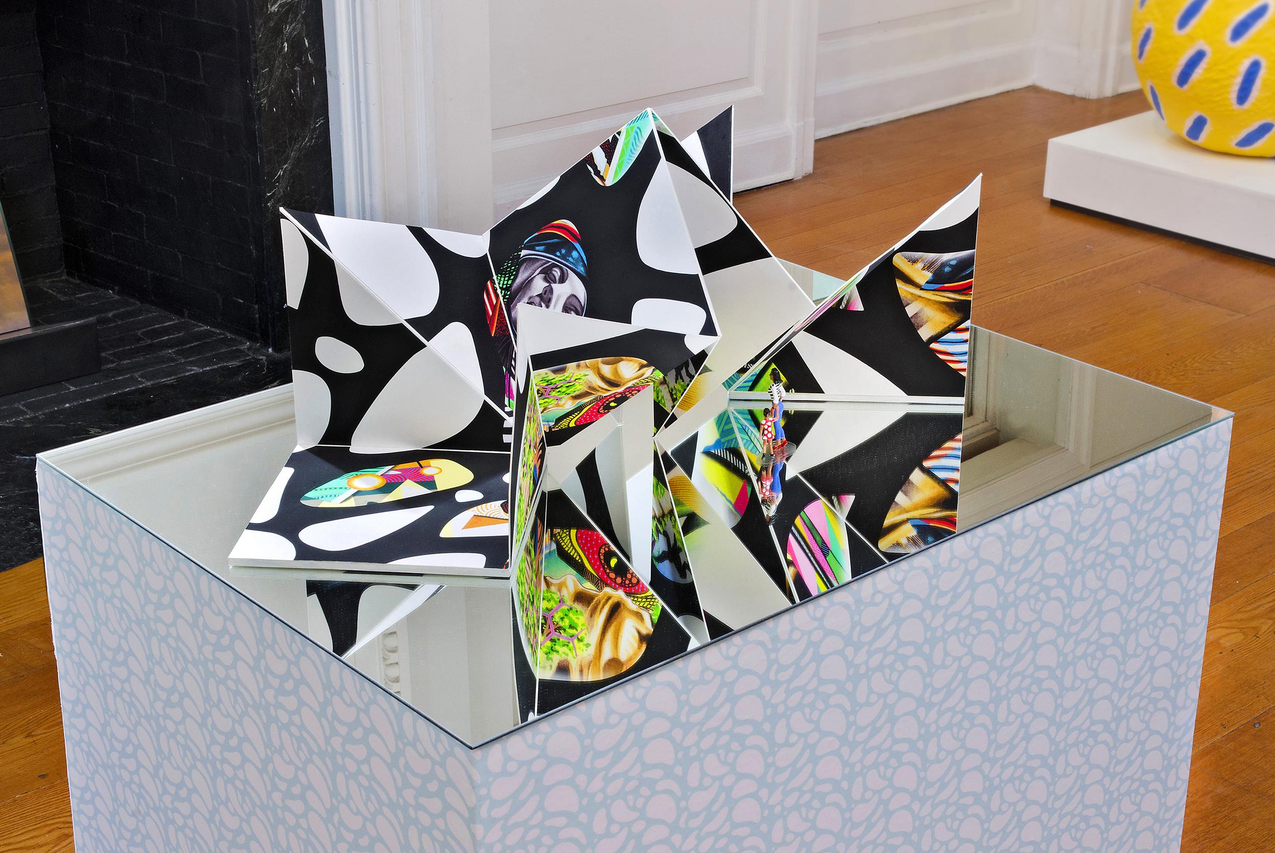 Ventana Origami Sculpture: Installation View (Photo: Stefan Hagen)