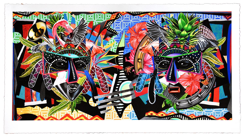 Junkanoo Masquerde, 43 in. x 24 in., Archival pigment print on fine art paper, Unique Artist's Proof, 2018 —  View in Printshop