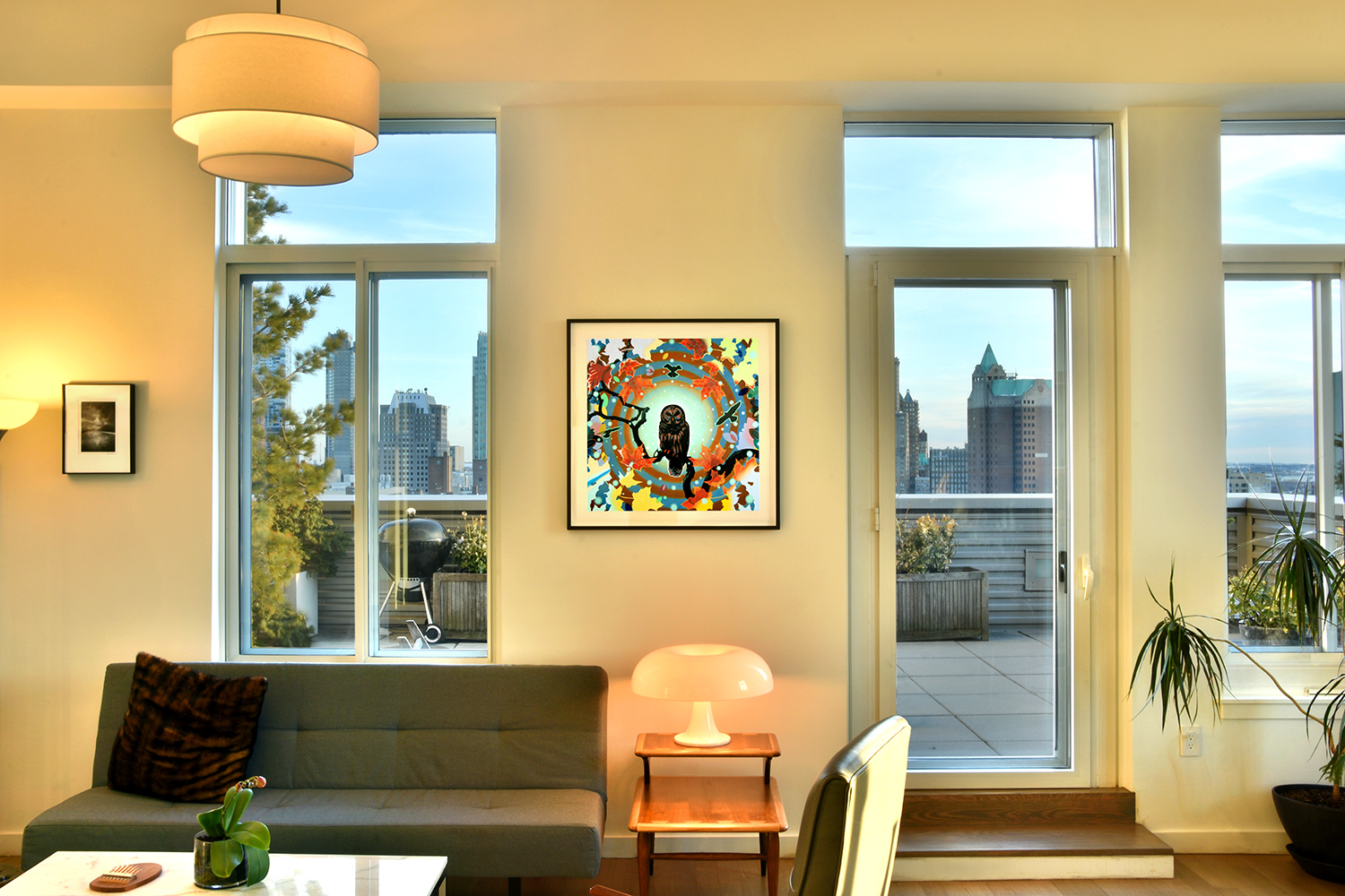 Special hand-embellished print commission In Situ in the Collector's home (Brooklyn, NY)