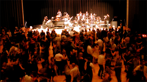 Count Basie Centennial  Over the years we created a series of live events with one real doozy, the Count Basie Centennial celebration in Manhattan attended by over 1,400 people from around the world. Frank Foster, Clark Terry, Jr. Mance and other Jazz legends performed. It was a very big band.