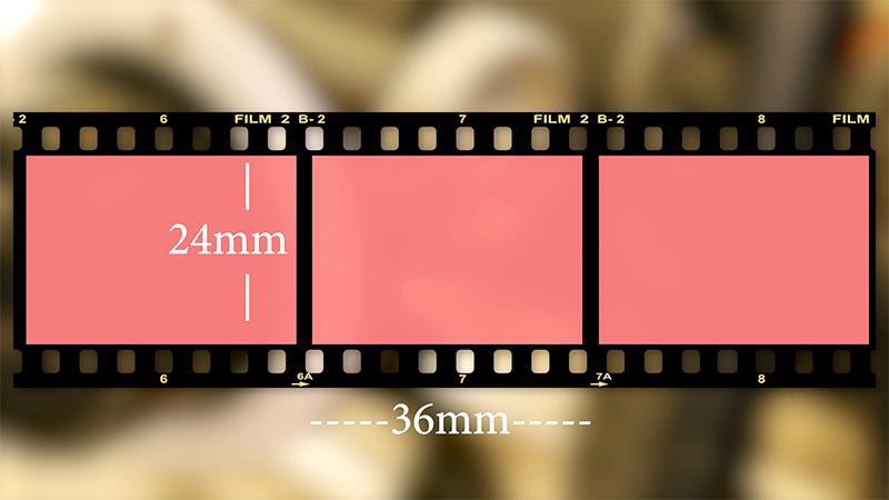 35mm still film, 8 perf per frame
