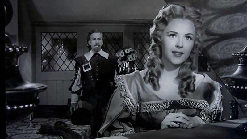 Eye light on Roxane (Mala Powers) in Cyrano de Bergerac, 1950